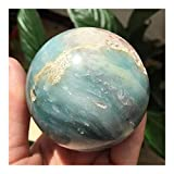 Cristal afortunado Decoración de la sala de la bola de cristal de la esfera de cristal de Amazon Natural Amazon Reiki Curación de la decoración del hogar Decoración del acuario ( Size : Around 60mm )
