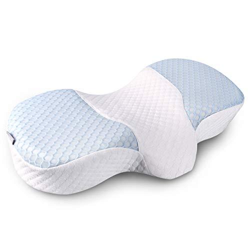 枕 安眠枕快眠グッズ 低反発まくら 健康枕 肩こり対策 いびき改善 頚椎サポート横向き寝 呼吸が楽 熟睡 通...
