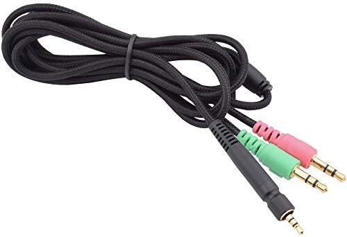Alitutumao Ersatz-Aux-Kabel, kompatibel mit Sennheiser Game One, Game Zero, PC 373D, GSP 350, GSP 500, GSP 600 Gaming Headset zu Xbox One PS4 PC und Smartphones