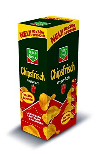 funny-frisch Chipsfrisch ungarisch Spender, 6er Pack (6 x 10 x 30 g)
