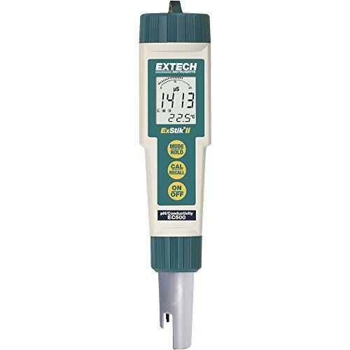 Extech EC500 Kombi-Messgerät Gelöste Teilchen (TDS), Leitfähigkeit, pH-Wert, Salinität, Temperat