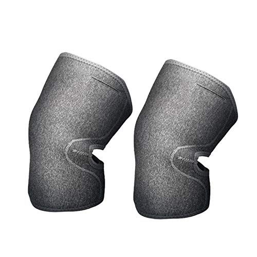Chang 1 Pair Electric Heating Knee Pads,USB Graphene Heated Knee Support Arthritis Pain Relief Adjustable Knee Pad,Grey