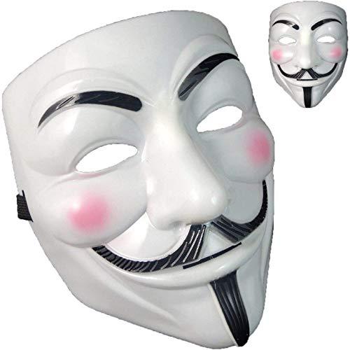 QUNPON Halloween-Maske,V for Vendetta Guy Fawkes Face Mask Fancy Halloween Cosplay