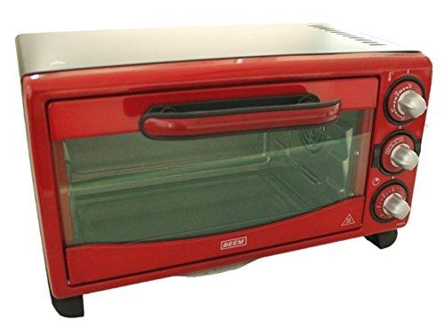 BEEM Startherm Mini four 18 l Rouge avec minuterie et chaleur réglable 4 fonctions 1380W Four à pizza 45 x 33 cm Largeur 5,5 kg