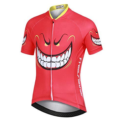 YFPICO Maillot de ciclismo para niños y niñas, camiseta de manga corta y pantalones cortos con almohadilla para el asiento