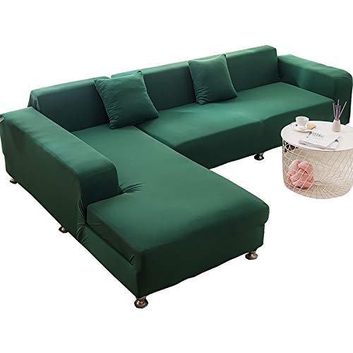 BHAHFL Fundas elásticas para sofá de 1 Pieza - Fundas para sofá con Estampado de poliéster y Spandex - Funda/Protector para Muebles para sofá con Base elástica y Espuma,Wood Green,1Seater