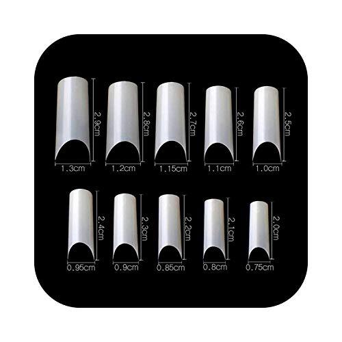 Autocollant Nail Art Nail Tips 500 Pcs C Courbé Faux Ongle Transparent Naturel Blanc Français Acrylique Nail Art Faux Ongles Conseils de Haute Qualité-Naturel-,