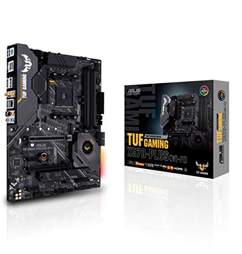Asus AM4 TUF Gaming X570-Plus (Wi-Fi) AM4 Zen 3 Ryzen 5000 & 3rd Gen Ryzen ATX Motherboard...