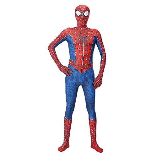 Leezeshaw Costume de super-héros Spiderman Peter Parker, unisexe, pour adultes et enfants - En élasthanne - Costume Zentai pour déguisement d'Halloween et cosplay
