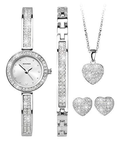 Sekonda Watches Orologio Analogico Quarzo Donna con Cinturino in Argento 2528G.68