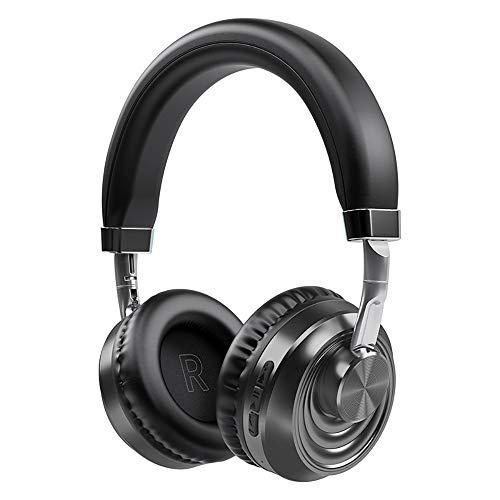 LRHD Auriculares inalámbricos Bluetooth 5.0 Auricular con micrófono Sobre Ear Sports Running Headset para teléfono PC Lattop MP3 TV Belleza Bluetooth Auriculares Running Cycling Driving Compatible iOS