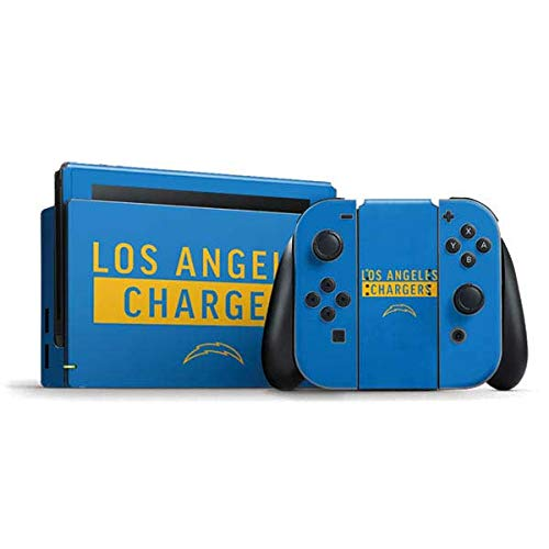 Skinit Decal Gaming Skin Compatible with Nintendo Switch Bundle - Officially Licensed NFL Los Angeles Chargers Blue Performance Series Design