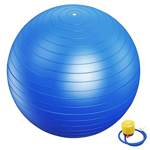 Pelota Gimnasia 55cm con Bomba Balón Pilates Anti Burst Pelota de Gimnasia Ritmica Pelota Gimnasia Grande Balón de Ejercicio Anti Explosión para Yoga Pilates Equilibrio Fitness Entrenamiento Azul 1pz