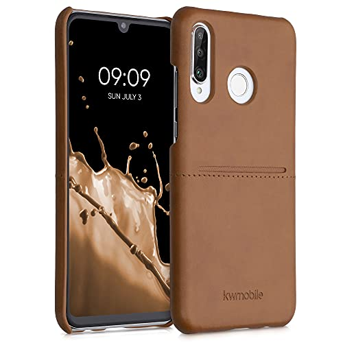 kwmobile Funda con Tarjetero Compatible con Huawei P30 Lite - Carcasa para móvil de Cuero sintético con Ranuras para 2X Tarjeta