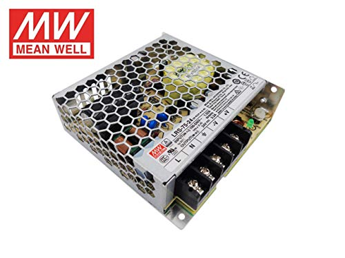 Fuente de alimentacion 75W 24V 3.2A Mean Well Enclosed LRS-75-24 Power Supply AC/DC