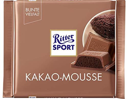 RITTER SPORT Kakao-Mousse (11 x 100 g), Gefüllte Alpen-Vollmilchschokolade, mit aufgeschlagener Kakao-Creme und Honig-Karamell-Note, Tafelschokolade