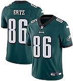 MMW - Camiseta de fútbol americano de la NFL, Philadelphia Eagles, manga corta, edición Elite, 11 bordado, color Verde-86, tamaño XL