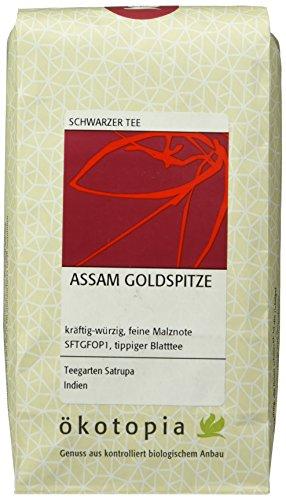 Ökotopia Schwarzer Tee Assam Goldspitze, 1er Pack (1 x 200 g)