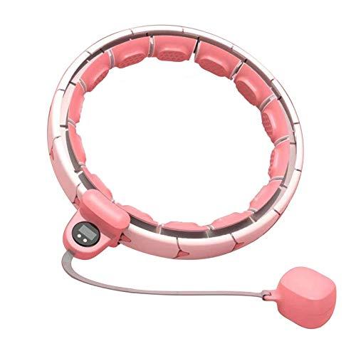YFH Intelligenter Hula Hoop, Intelligente Aufzeichnungsdaten Und 360-Grad-Massage, 16 Abschnitte Nicht Fallender Fitness-Massage-Hoop Zur Gewichtsreduktion Abdominal-Sportübungen (Color : Pink)