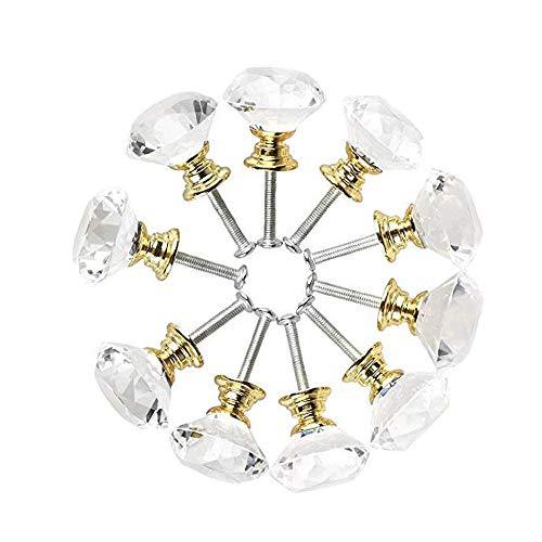 deurkruk 10 stuks voor kast dressoir lade knop 30 Mm diamant vorm lade keuken kast dressoir kastje sluiting handvat goud vintage deurkruk