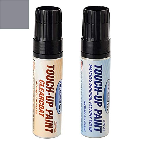 ExpressPaint Half-Ounce Jar - Automotive Touch-up Paint for Pontiac All - Gunmetal Metallic Clearcoat 87/WA9243 - Color + Clearcoat Package