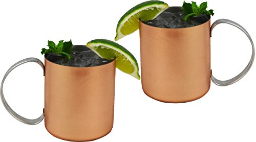 Southern Homewares Copper Moscow Mule Mug w/Stainless Steel Lining Moscow Mule Cups Copper Cups Copper Mugs Set of 2