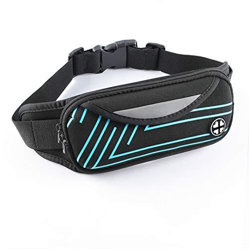 gumeng Tasche da Corsa Sport Tasche per telefoni cellulari Tasche da Equitazione all'aperto con Custodia Impermeabile per Cellulare Blu 10 * 22 cm