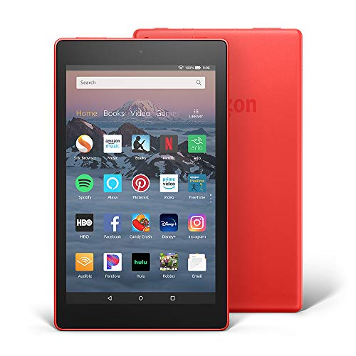 Fire HD 8 Tablet (8' HD Display, 16 GB) - Red (Previous Generation - 8th)