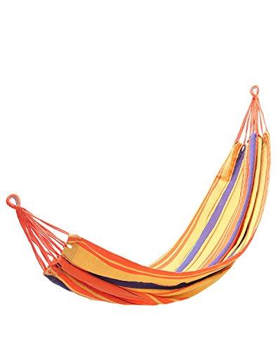 KingCamp - Hamac de Jardin Canevas- 200 * 100cm - Charge Max. 120 kg - KG3752 (Orange/Jaune)
