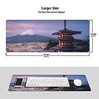日本 富士山 桜 マウスパッド キーボードパッド 滑らかマウスパッド ゲーミングパッド 大型 オフィス 家庭用