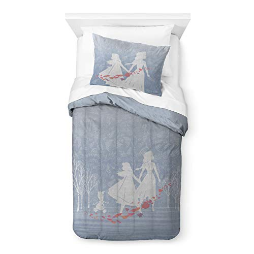 Saturday Park Disney Frozen 2 Twin Duvet & Sham Set- 100% Cotton- Kids Comforter Cover with Matching Pillow sham Cover - Girls Room Décor - Oeko-TEX Certified