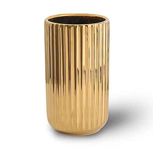 22CM Gold Vase Keramik Vasen Blumenvase Deko Dekoration