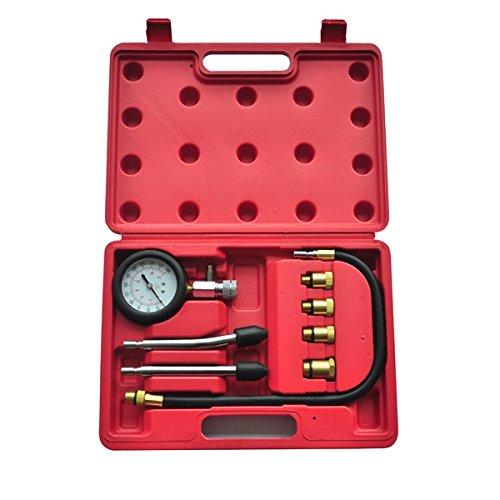 vidaXL 210005Kompressionstester-Set, Koffer, für Benzin-Motoren, 9-teiliges Set