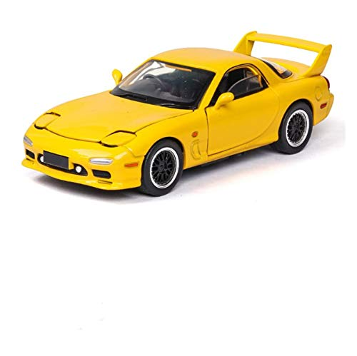 HCEB Diecast Model Car 1:32 For MAZDA RX7 Racing Car Diecasts & to-y Vehicles Metal Car Model Sound Light Collection Car to-ys For Children Gift Car Model (Color : 3)