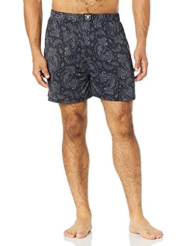 STACY ADAMS Men's Boxer Short, Black Paisley, XL