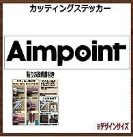 ⑧ AIMPOINT エイムポイント カッティングステッカー (黒, 50x11cm 1枚)
