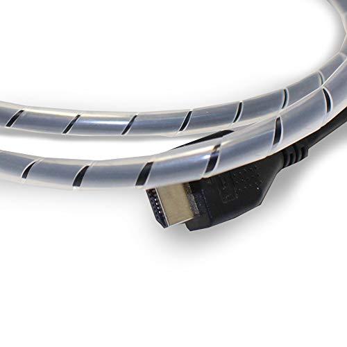 Flexowire Kabelspirale Kabelschlauch 10 m 9-65 mm transparent Spiralkabelschlauch Spiralschlauch Wickelband