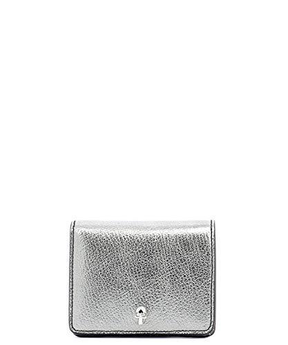Alexander McQueen Portafoglio Donna 554190Css3i1300 Pelle Argento