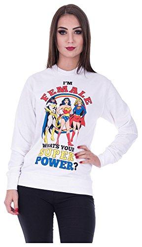 Loomiloo Sweater Wonderwoman Pulli Dames Wonderwoman Pullover Superwoman Sweatshirt Superhelden Comics Halloween kostuum carnavalskostuum carnaval carnaval carnaval