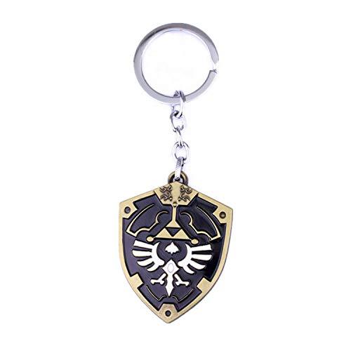 Zelda Breath of the Wild KeyChain - Llavero con colgante de escudo de Hyrule