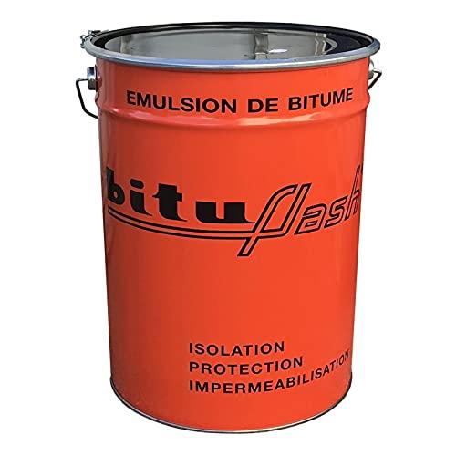 Bitume étanchéité imperméabilisant maçonnerie, bois, métaux, cuves, bassin, piscine, fondations, sols, BITUFLASH - PROCOM 25 litres
