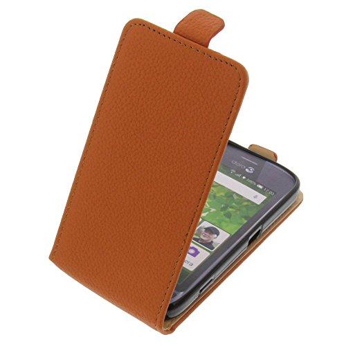 foto-kontor Tasche für Doro Liberto 820 Mini Smartphone Flipstyle Schutz Hülle orange