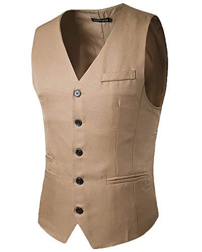 Herenvest slim fit 5 eenrijige gilet met moderne casual business casual vest mannen Nner pak vest smoking waistcoat