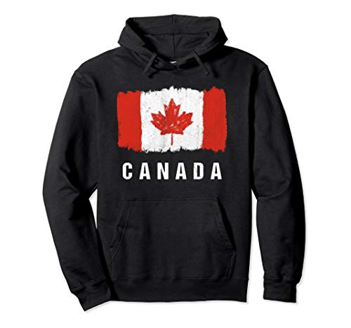 Gemalte Kanada Fahne / Kanadische Flagge Fan Geschenk Pullover Hoodie