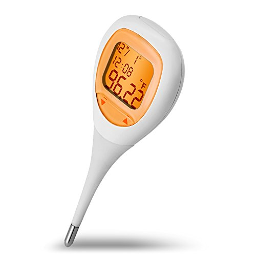 Basal Thermometer for Ovulation Tracking with Backlight, Thermometer for Fever Digital Medical Oral and Rectal Thermometer for Baby,Kids and Adults