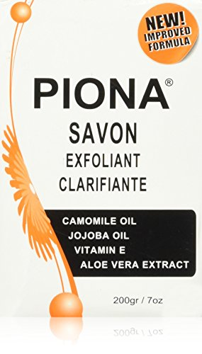 Piona Exfoliating & Brigtening Soap 7oz - Camomile Oil - Jojoba Oil - Vitamin E - Aloe Very Extra - By Cherrybargains
