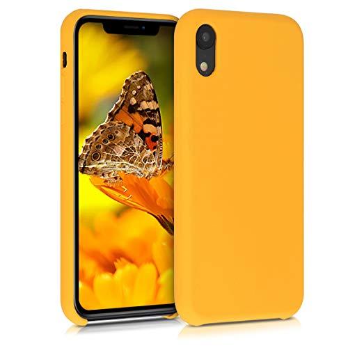 kwmobile Hülle kompatibel mit Apple iPhone XR - Handyhülle gummiert - Handy Case in Safran