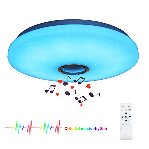 24W LED Muziek Plafondlamp met Bluetooth-luidspreker voor Kinderkamer Slaapkamer, kleur veranderend licht met afstandsbediening plafondlamp voor kinderkamer