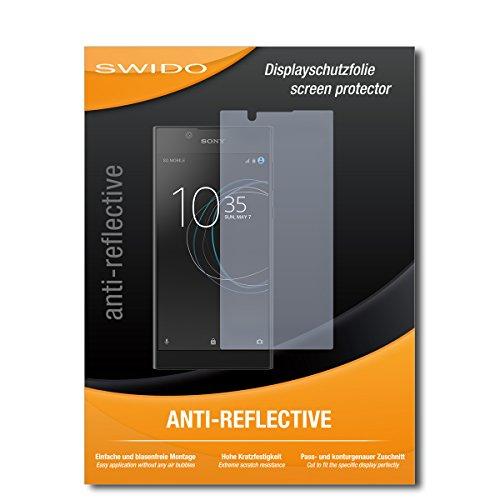 SWIDO Schutzfolie für Sony Xperia L1 [2 Stück] Anti-Reflex MATT Entspiegelnd, Hoher Festigkeitgrad, Schutz vor Kratzer/Bildschirmschutz, Bildschirmschutzfolie, Panzerglas-Folie