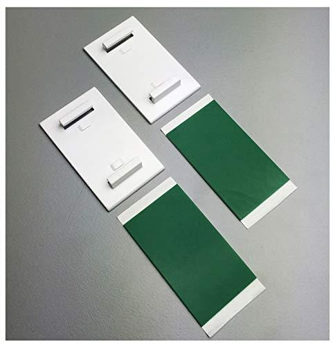 KLEMMFLEX Klebehalter - Farbe: Weiss - 1 Paar (2 Stück) - selbstklebend für Minirollos/Duo-Rollos/Rollos - Montage OHNE Bohren auf dem Fensterrahmen/Fensterflügel